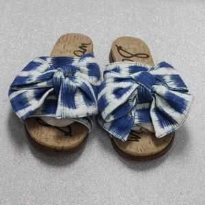 Sam Edelman Ikat Big Bow Cork Slide Sandals